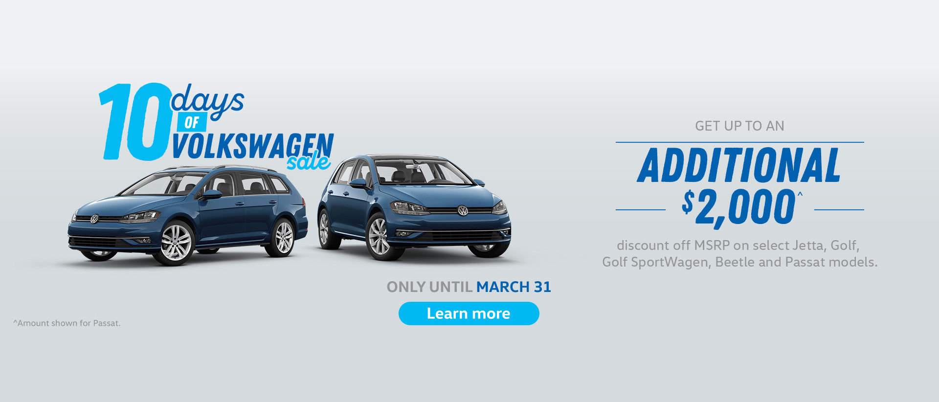 Volkswagen 10 Day Sale Western Regions